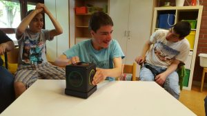Kids using Skoog in Waiblingen