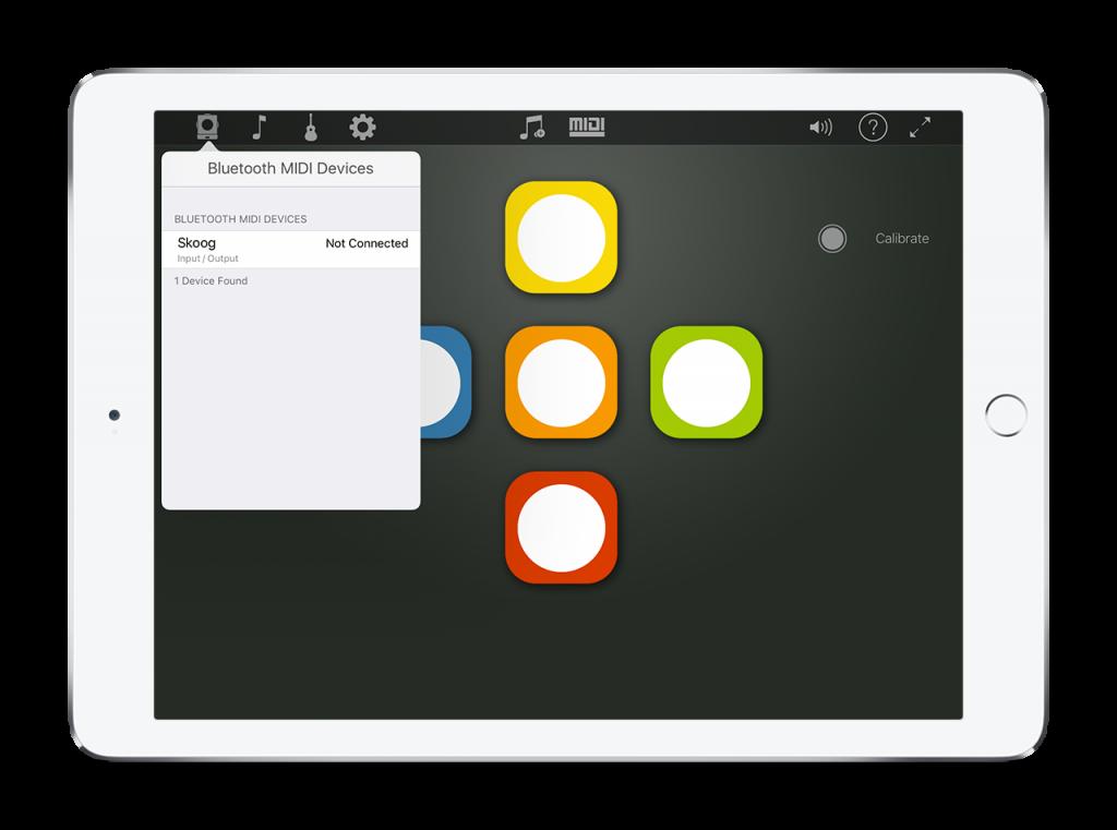 Connecting your Skoog to iPad