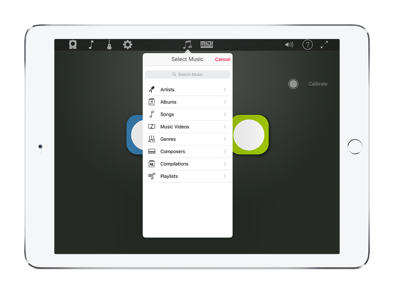 Jamming with a Backing Track in the Skoog App