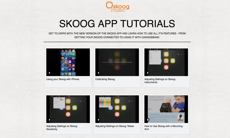 Skoog iOS App Tutorials on Vimeo